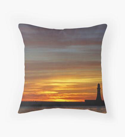 Roker Beach Throw Pillow