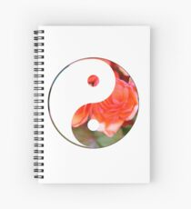 yin and yang - red flowers Spiral Notebook