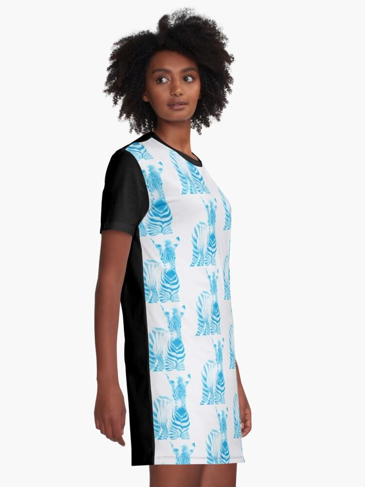 Alternative Ansicht von Zebra 02 T-Shirt Kleid