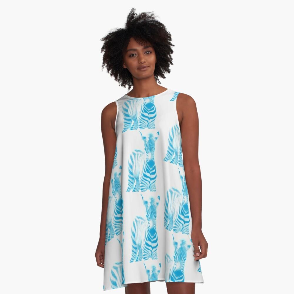 Zebra 02 A-Linien Kleid Vorne