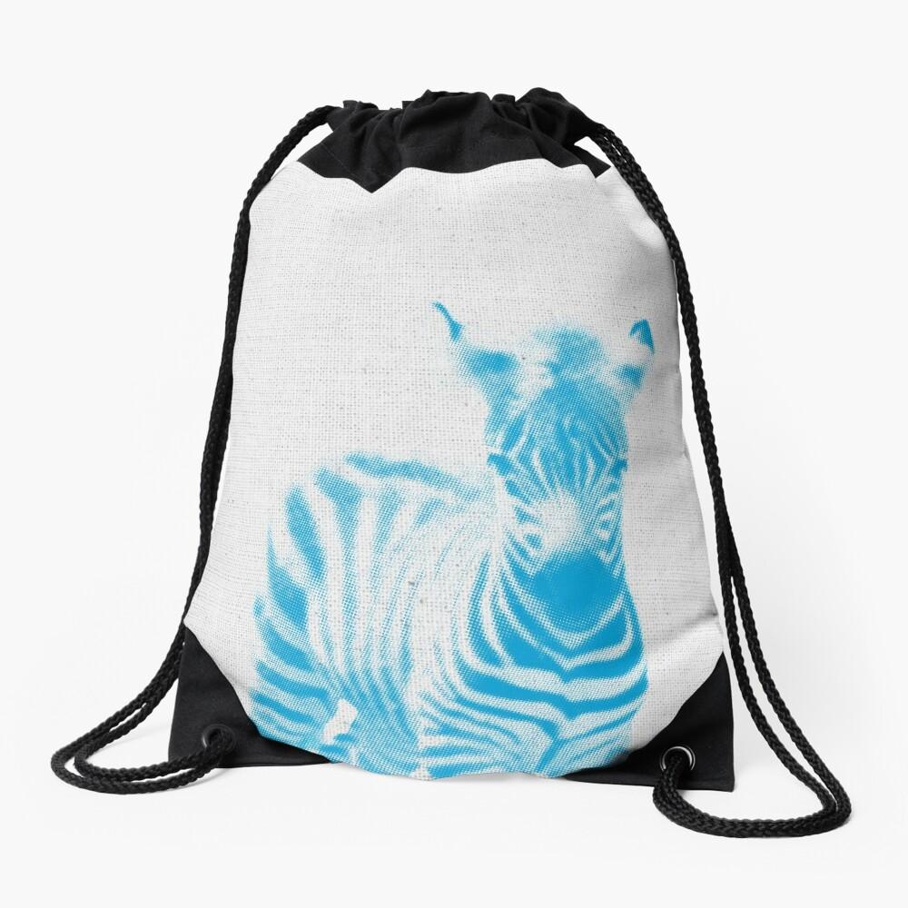 Zebra 02 Rucksackbeutel Vorne