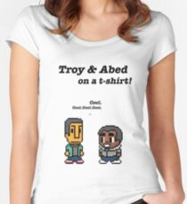 Troy and Abed · Community · TV show Women's Fitted Scoop T-Shirt