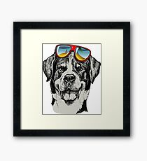 Dog Style Cool Funny Pet Framed Print