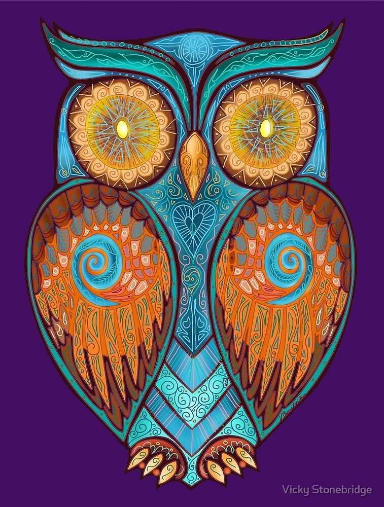Ornate Owl 6 by Vicky Stonebridge
