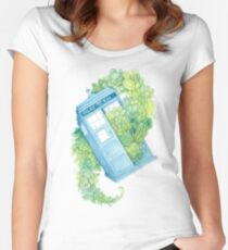 Succulents in Space Women's Fitted Scoop T-Shirt