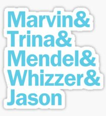 Falsettos Characters | White & Blue Sticker