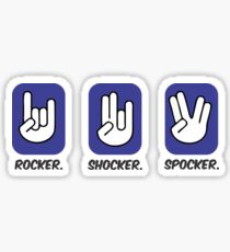 Rocker Shocker Spocker Tshirt and Mug Sticker