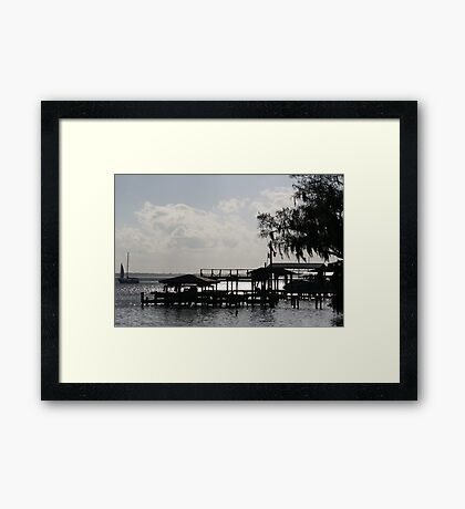 ON THE WATER Framed Print
