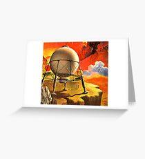 Vintage Alien Planet Science Fiction  Greeting Card