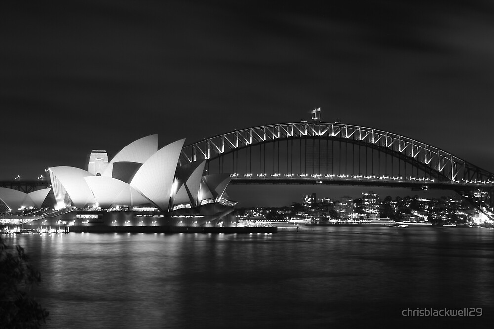 harbour bridge and  opera house   by chrisblackwell29