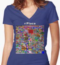 Reddit Place Women's Fitted V-Neck T-Shirt