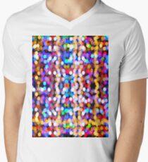 Bokeh Pattern Men's V-Neck T-Shirt