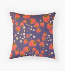 Tulips lila Throw Pillow