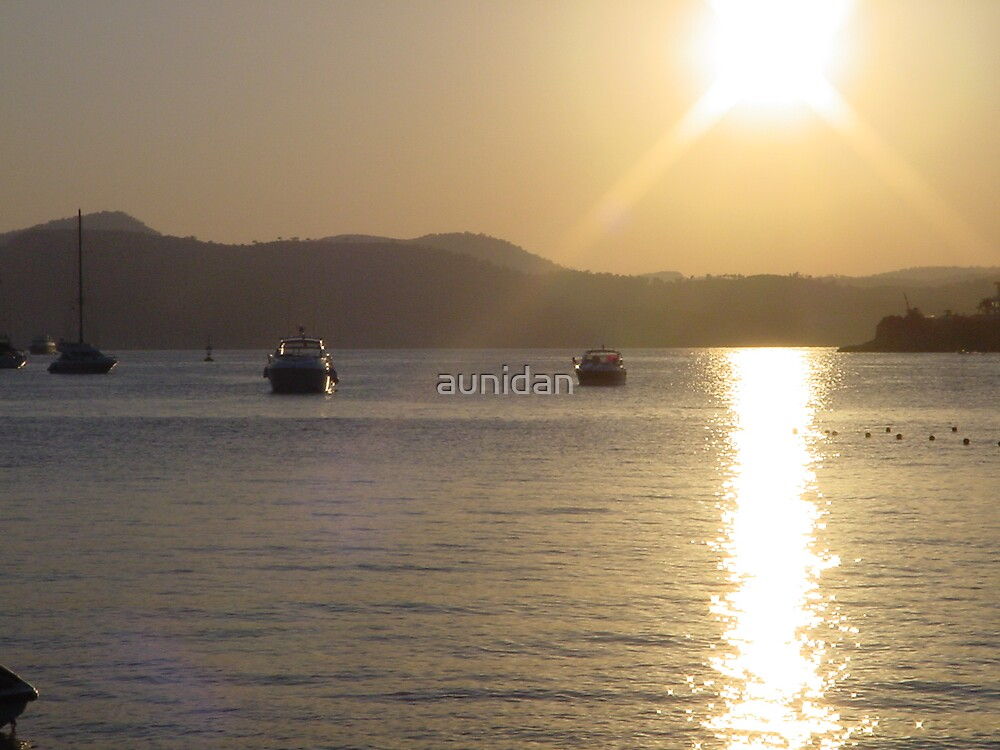 santa ponsa sunset by aunidan