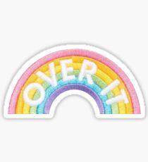 Rainbow Over it Patch Sticker