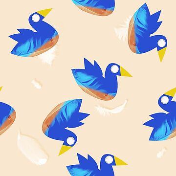 blue birbs (bird pattern) by BestTails
