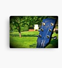 Gibson Les Paul Headstock Scenery Canvas Print