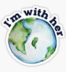 I'm with her earth day Sticker