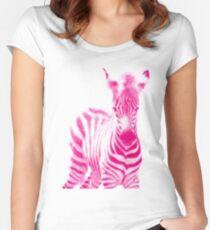 Zebra 05 Tailliertes Rundhals-Shirt