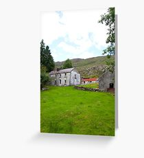 old abandoned Irish farmhouse Greeting Card