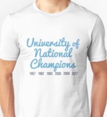 University of National Champions (UNC Chapel Hill) Unisex T-Shirt