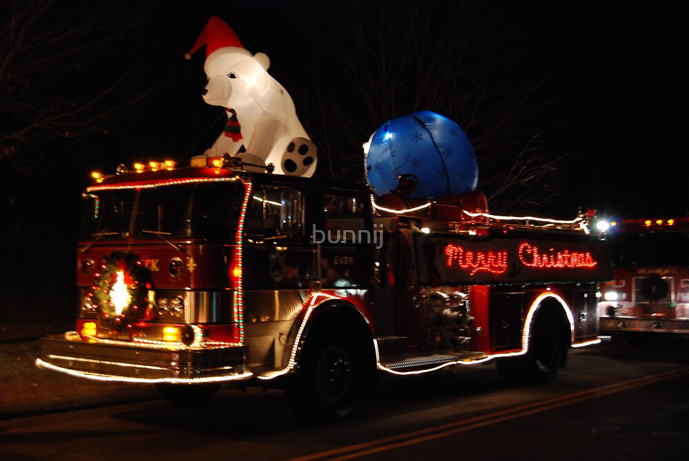 Merry Christmas Fire Truck by bunnij