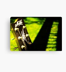 Maton Guitar Headstock Scenery Canvas Print
