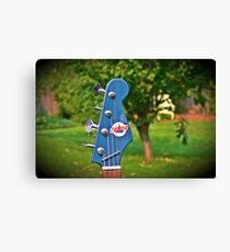 Tiesco Guitar Bass Headstock Scenery Canvas Print