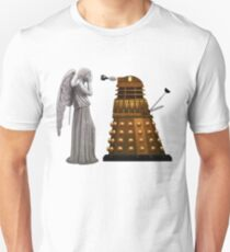 Dalek and Weeping Angel Unisex T-Shirt