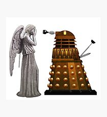 Dalek and Weeping Angel Photographic Print