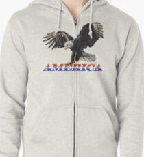 AMERICA Zipped Hoodie