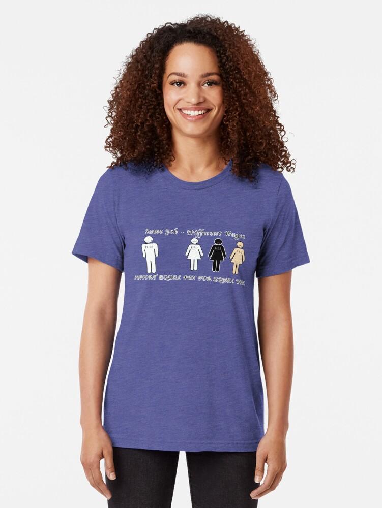 Vista alternativa de Camiseta de tejido mixto Salario igual para trabajos iguales