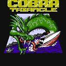 Kobra-Dreieck - nur schwarzer Hintergrund von DukeJaywalker