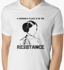 Princess Leia Resist Men's V-Neck T-Shirt