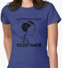 Princess Leia Resist Womens Fitted T-Shirt