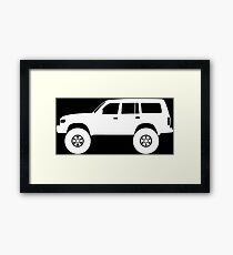 Lifted 4x4 offroader - for Toyota Land Cruiser J80 (1990–1997) enthusiasts Framed Print