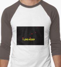I Love Mickey (Minimalist Design) Men's Baseball ¾ T-Shirt