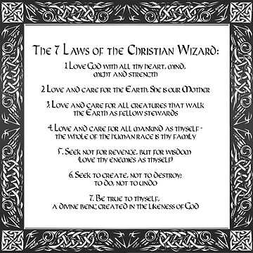 The Seven Laws of the Christian Wizard by wwwdotinternets