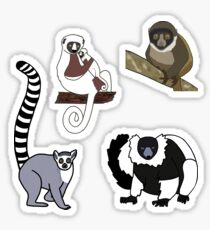 Lemurs - Mini Sticker Pack TWO Sticker