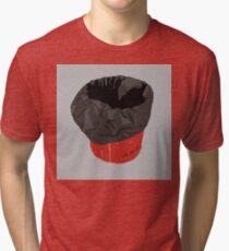 0048 Red Art Trashcan Tri-blend T-Shirt