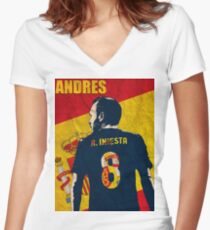 Iniesta  Women's Fitted V-Neck T-Shirt