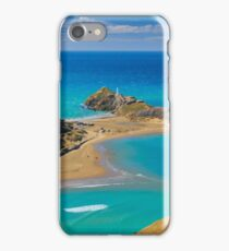 White lighthouse, location - Castlepoint, New Zealand iPhone Case/Skin