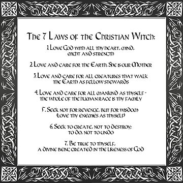 The Seven Laws of the Christian Witch by wwwdotinternets