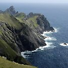 Sea and rock, St Kilda by JimWhitham