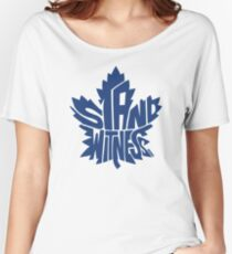Toronto Maple Leafs Stand Witness Blue Women's Relaxed Fit T-Shirt