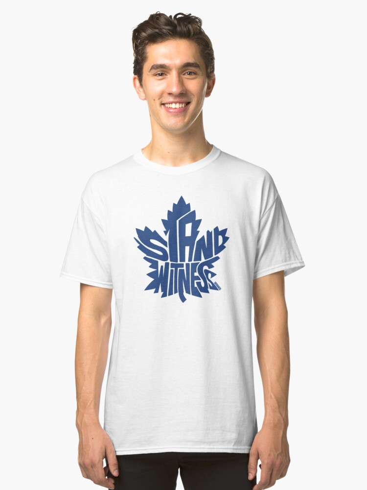 Toronto Maple Leafs Stand Witness Blue Classic T-Shirt Front