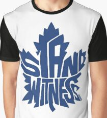 Toronto Maple Leafs Stand Witness Blue Graphic T-Shirt