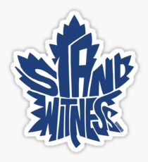 Toronto Maple Leafs Stand Witness Blue Sticker
