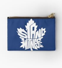 Toronto Maple Leafs Stand Witness White Studio Pouch