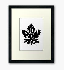 Toronto Maple Leafs black Framed Print